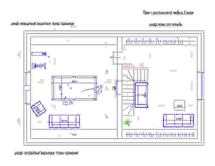 План второго этажа от Студия интерьера 'SENSE' Эклектичный