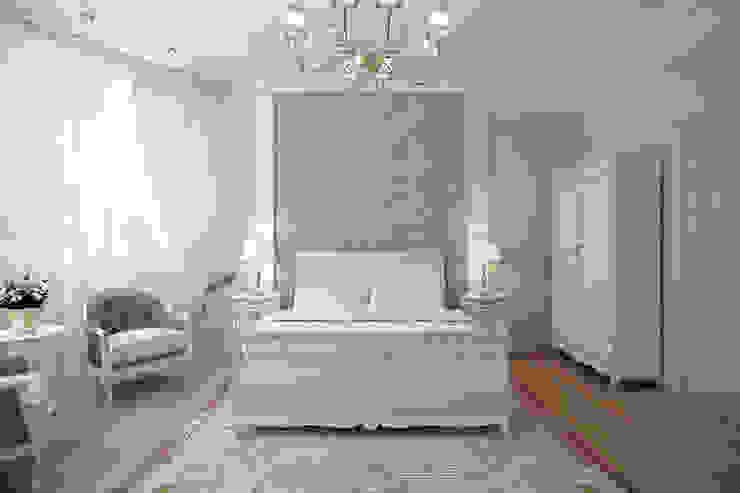 غرفة نوم تنفيذ Студия интерьера 'SENSE', كلاسيكي