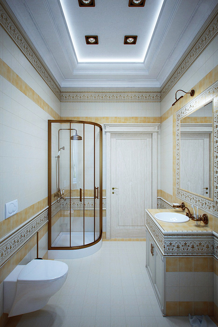 Студия интерьера 'SENSE' Classic style bathroom