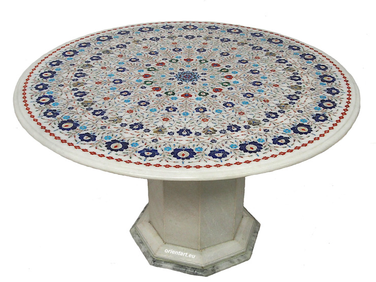 Kabul Gallery Living roomSide tables & trays Stone White