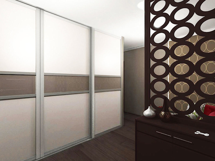 Студия интерьера 'SENSE' Eclectic style corridor, hallway & stairs