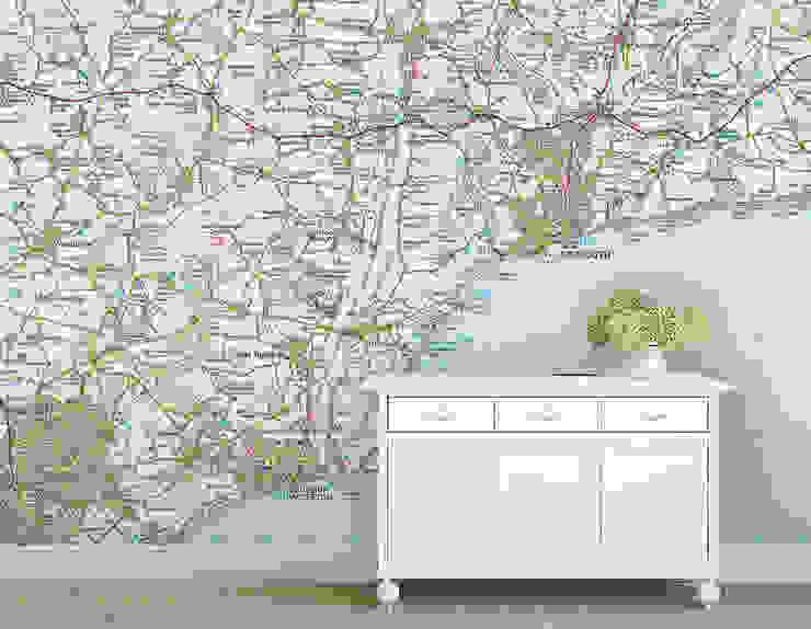Custom Ordnance Survey Map Wallpaper Love Maps On Ltd. Wände & BodenTapeten