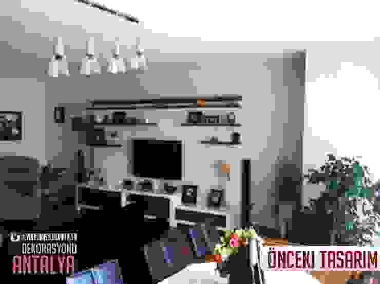 A'dan Z'ye Salon yenilememiz Akdeniz Oturma Odası Ev Dekorasyonu Antalya Akdeniz