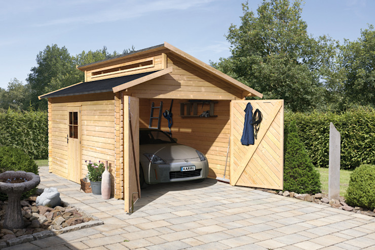 Garage/shed by homify, Classic