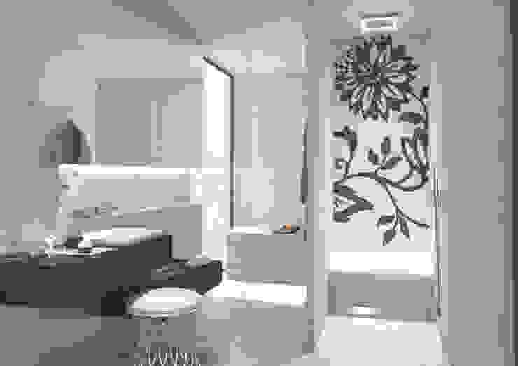 De zitbank in de douche:  Badkamer door wedi,