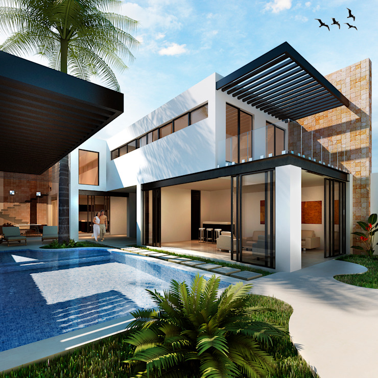 Modern houses by Trazo Creativo Modern