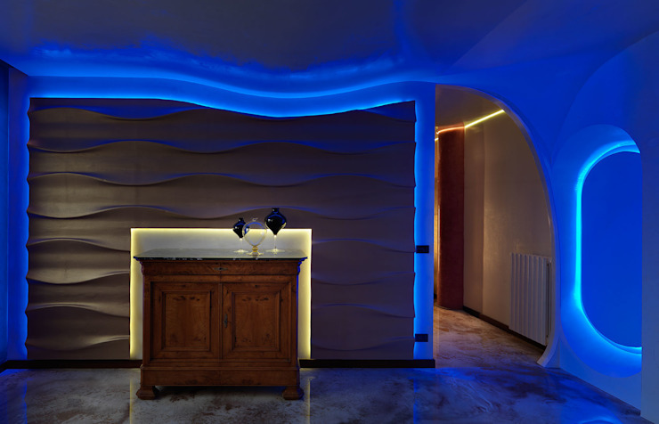 alessandromarchelli+designers AM+D studio Ruang Keluarga Modern