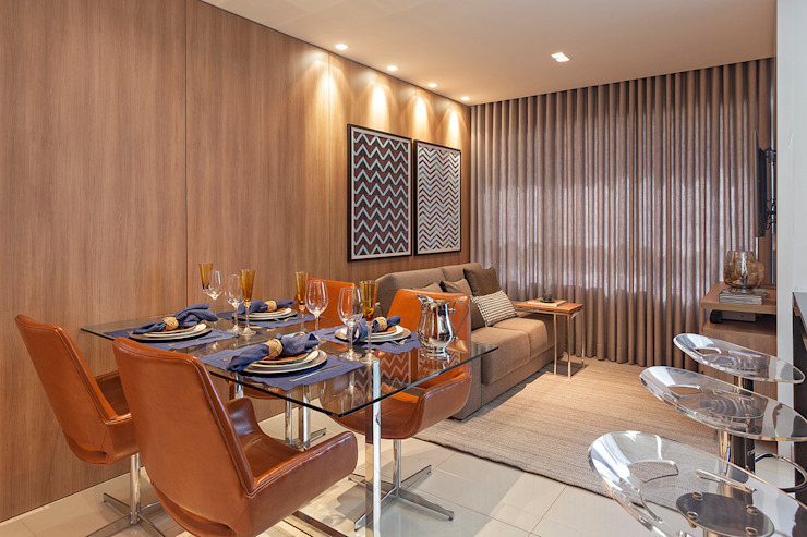 Apartamento MD Salas de estar modernas por ÓBVIO: escritório de arquitetura Moderno