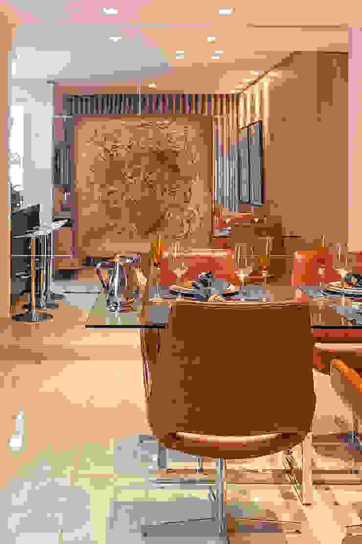 Apartamento MD Salas de jantar modernas por ÓBVIO: escritório de arquitetura Moderno