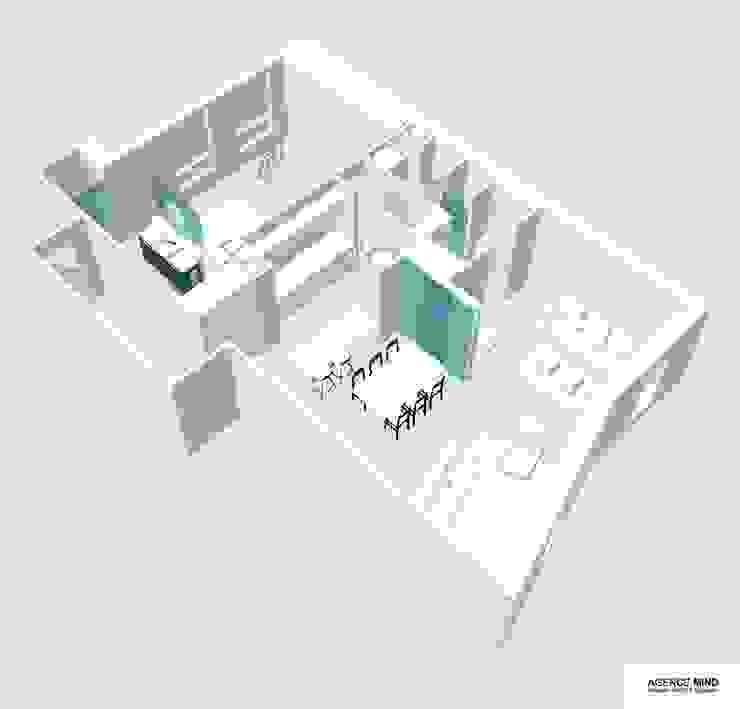3D vue salon par Agence MIND Moderne