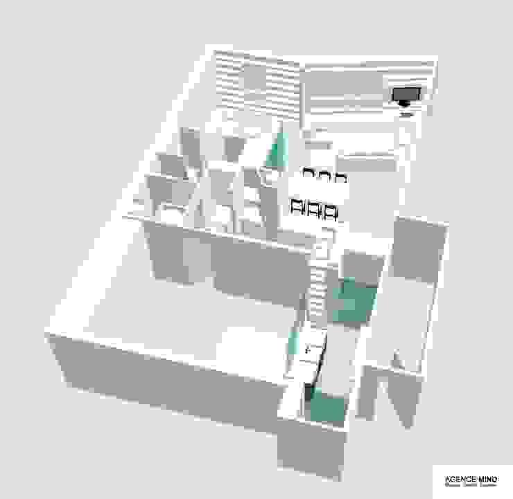 3D vue bibliothèque par Agence MIND Moderne