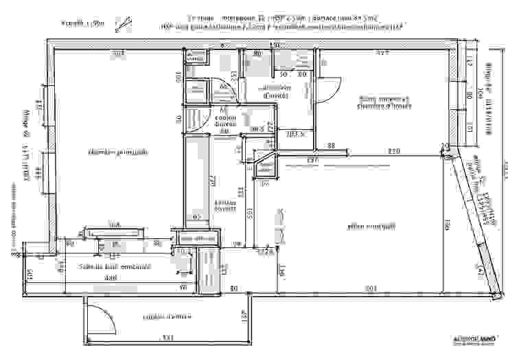 La nouvelle distribution de l'appartement après rénovation par Agence MIND Moderne