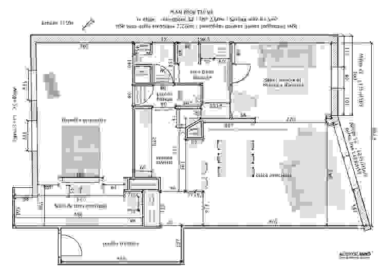 Le nouvel amménagement de l'appartement après rénovation par Agence MIND Moderne