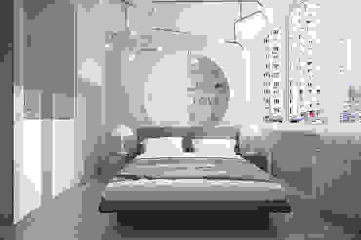 Dormitorios de estilo moderno de Студия интерьерного дизайна happy.design Moderno