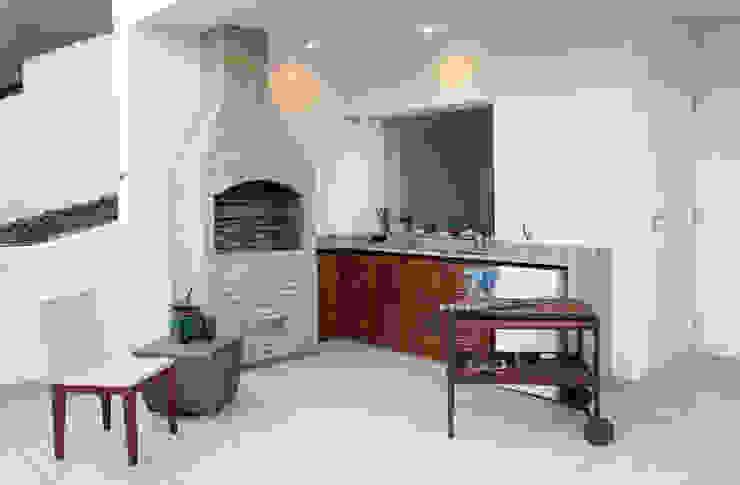 Churrasqueira cobertura Horto Varandas, alpendres e terraços modernos por Fernanda Leme Arquitetura e Design de Interiores Moderno