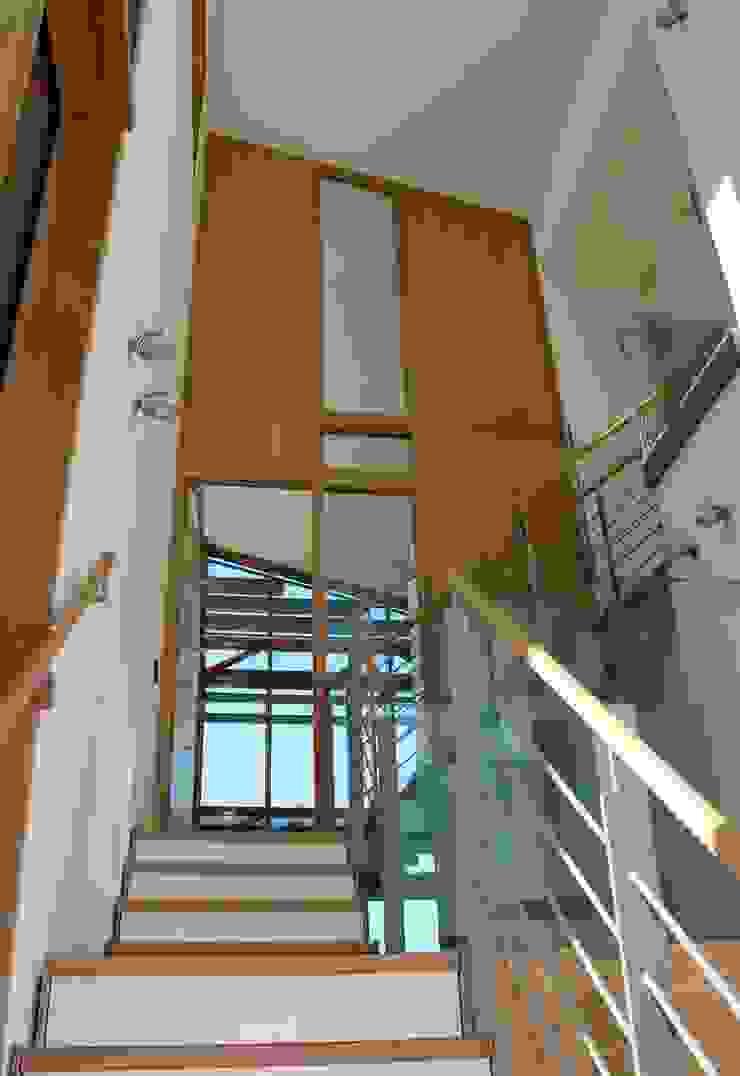 trappenhuis Moderne gangen, hallen & trappenhuizen van TIEN+ architecten Modern