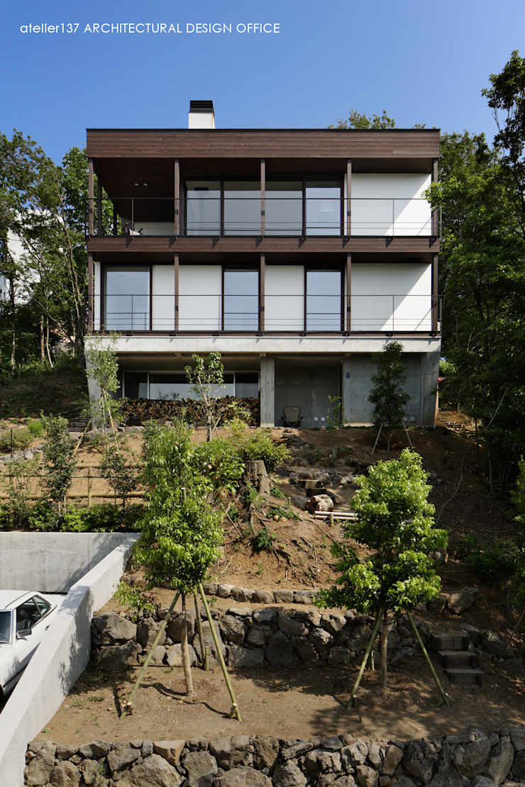 外観 モダンな 家 の atelier137 ARCHITECTURAL DESIGN OFFICE モダン