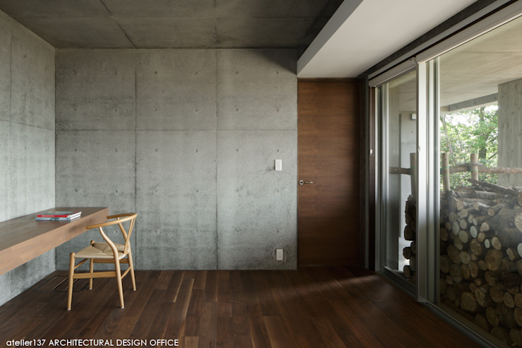 Modern style media rooms by atelier137 ARCHITECTURAL DESIGN OFFICE Modern Concrete