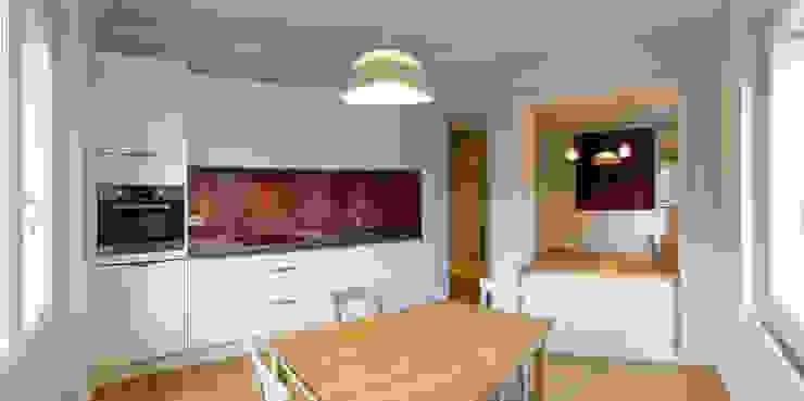 Agence sébastien Markoc Modern Dining Room Wood Purple/Violet