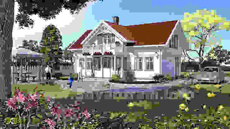 3D Exterior Illustration Rendering Design: modern  by Yantram Architectural Design Studio, Modern