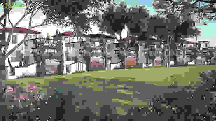 3D Exterior Landscap Palying Design: modern  by Yantram Architectural Design Studio, Modern
