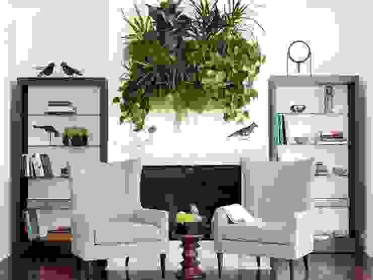 Living Room Soggiorno in stile tropicale di Dotto Francesco consulting Green Tropicale