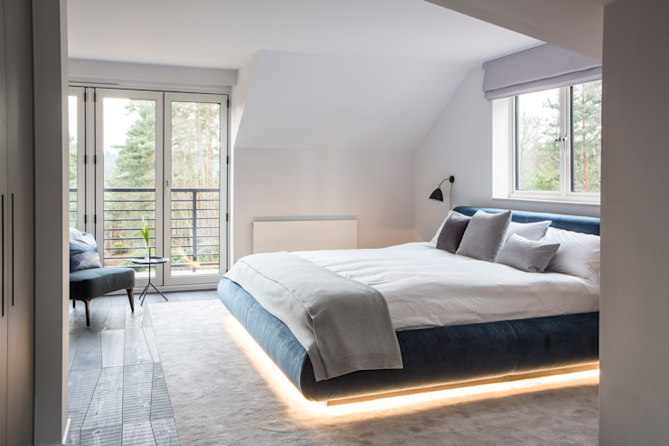 Private Residence, Surrey Modern style bedroom by Nice Brew Interior Design Modern