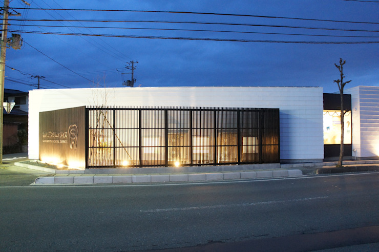 夕景 一級建築士事務所A-SA工房 モダンな医療機関