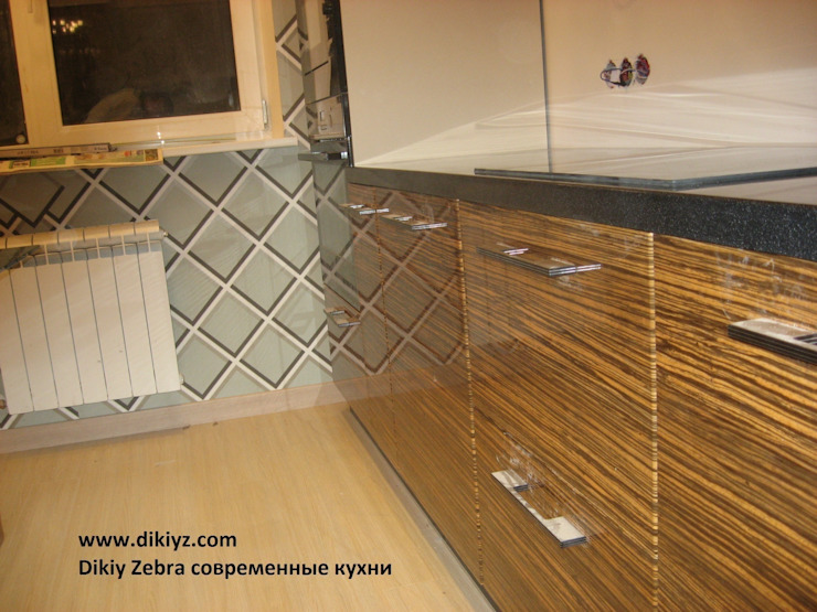 Кухня Зебрано глянец:  в современный. Автор – Dikiy Zebra, Модерн