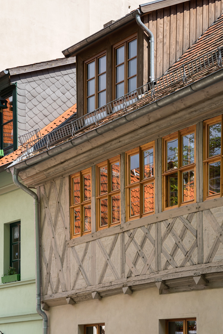 Fassadendetail qbatur Planungsgenossenschaft eG Klassische Häuser