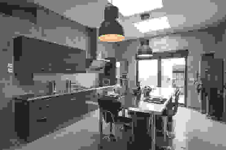 Cocinas de estilo industrial de Notes de Styles - Agence Nord pas de Calais Industrial