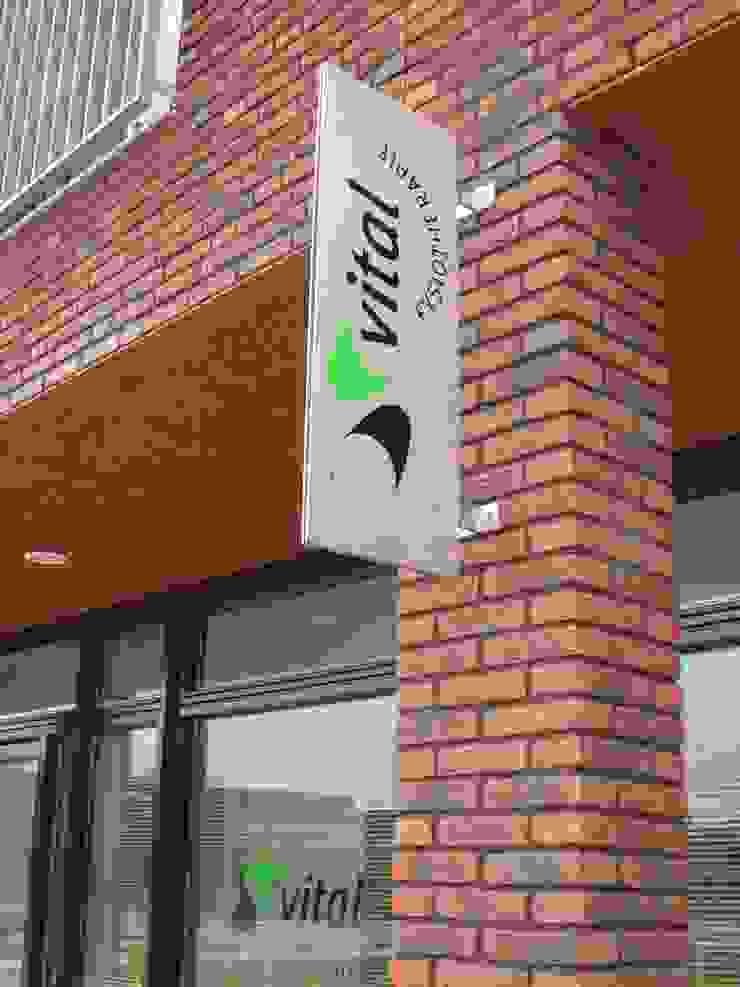 RVS reclamebord Kouwenbergh Machinefabriek B.V. Industriële kantoor- & winkelruimten