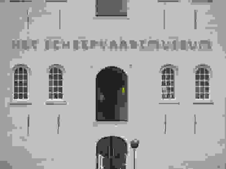 RVS gevelbelettering op maat Kouwenbergh Machinefabriek B.V. Moderne musea