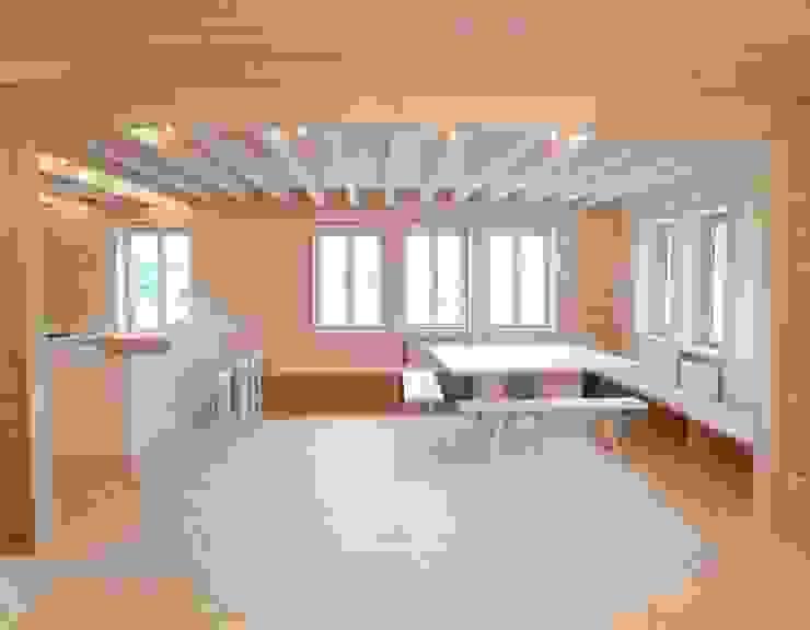Bauernhof am Mondsee Esszimmer im Landhausstil von SilvestrinDesign Landhaus