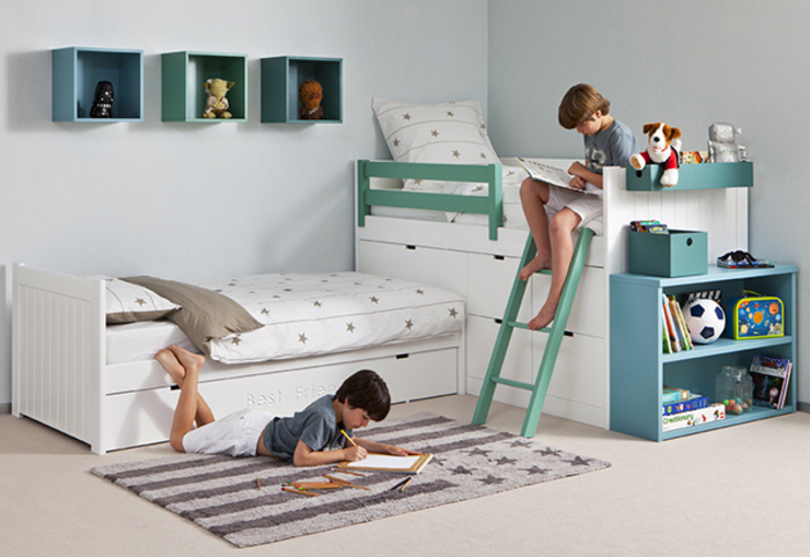 Flexible sleeping combinations for tight spaces Nubie Kids Nursery/kid's roomBeds & cribs