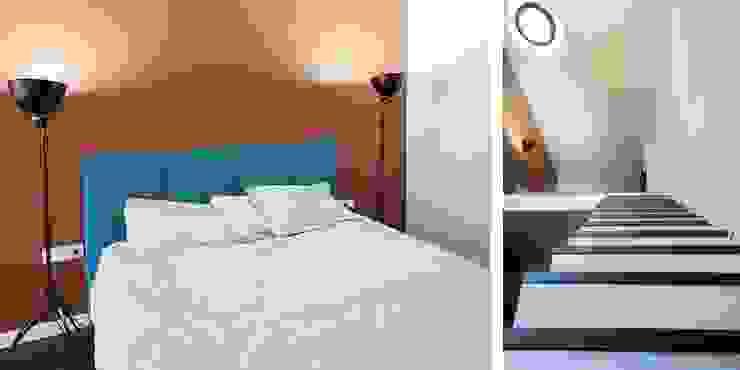 Трехуровневая квартира Спальня в стиле минимализм от Despace Минимализм
