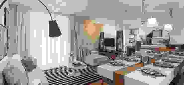 Freguesia do Ó | Decorados Salas de estar modernas por SESSO & DALANEZI Moderno