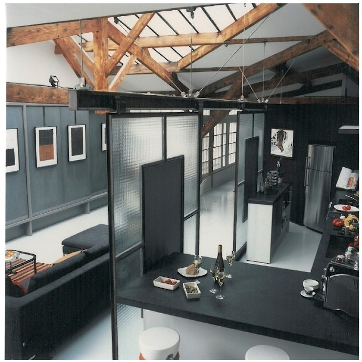 Salon industriel par homify Industriel