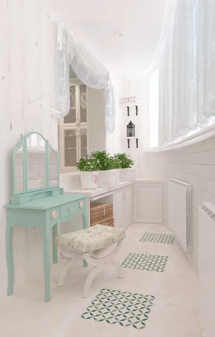 Varandas, alpendres e terraços clássicos por Katerina Butenko Clássico