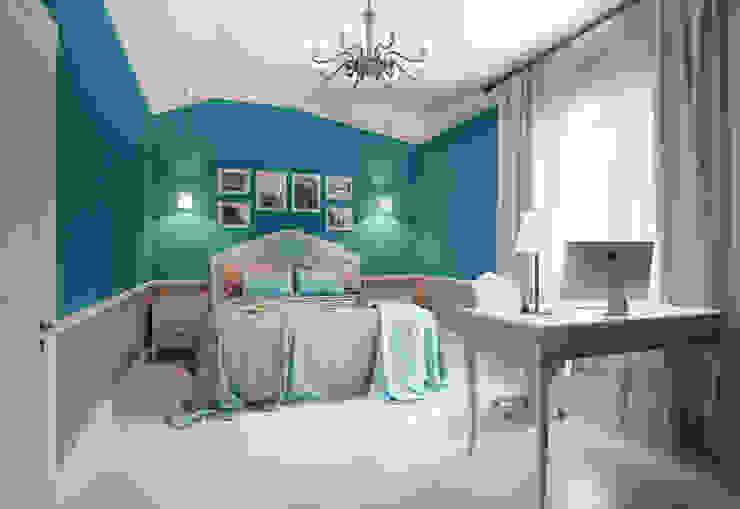 пос. Николина гора, Рублево-Успенское шоссе: Спальни в . Автор – Дизайн-студия интерьера 'ART-B.O.s',