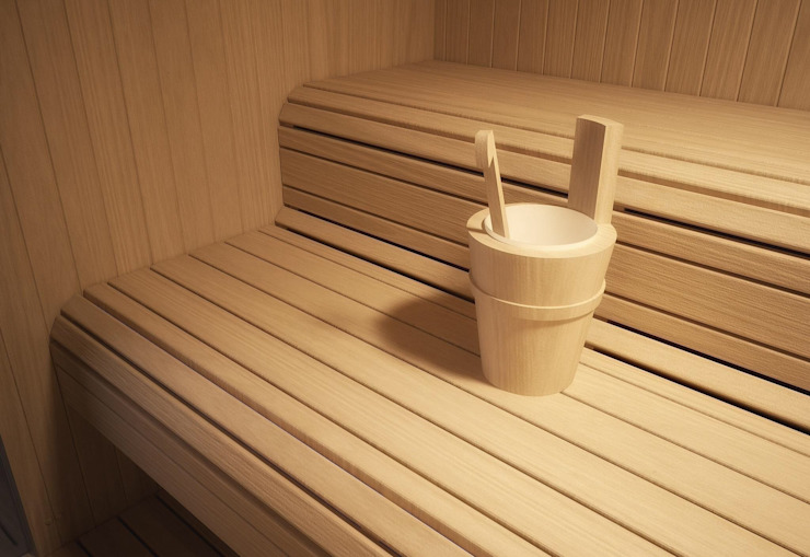 Sauna Interior Gimnasios domésticos modernos: Ideas, imágenes y decoración de Steam and Sauna Innovation Moderno