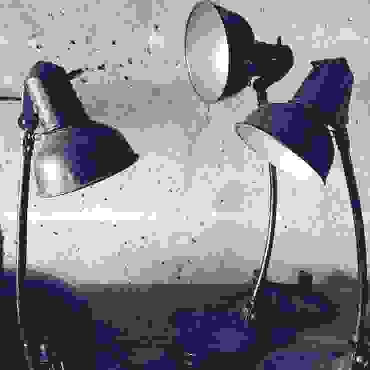 SIS Bauhaus Desk Lamp, black, 30's - 40's Urban Industrial ArbeitszimmerBeleuchtungen Metall Schwarz