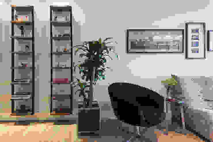 COZINHA INTEGRADA COM ESTAR E JANTAR Salas de estar modernas por Pura!Arquitetura Moderno
