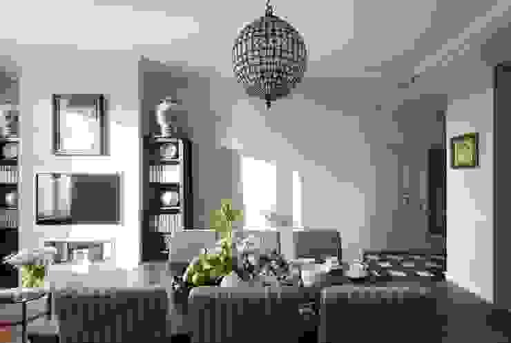 Идеальный фон (ЖК Авеню77) Гостиная в стиле модерн от White & Black Design Studio Модерн