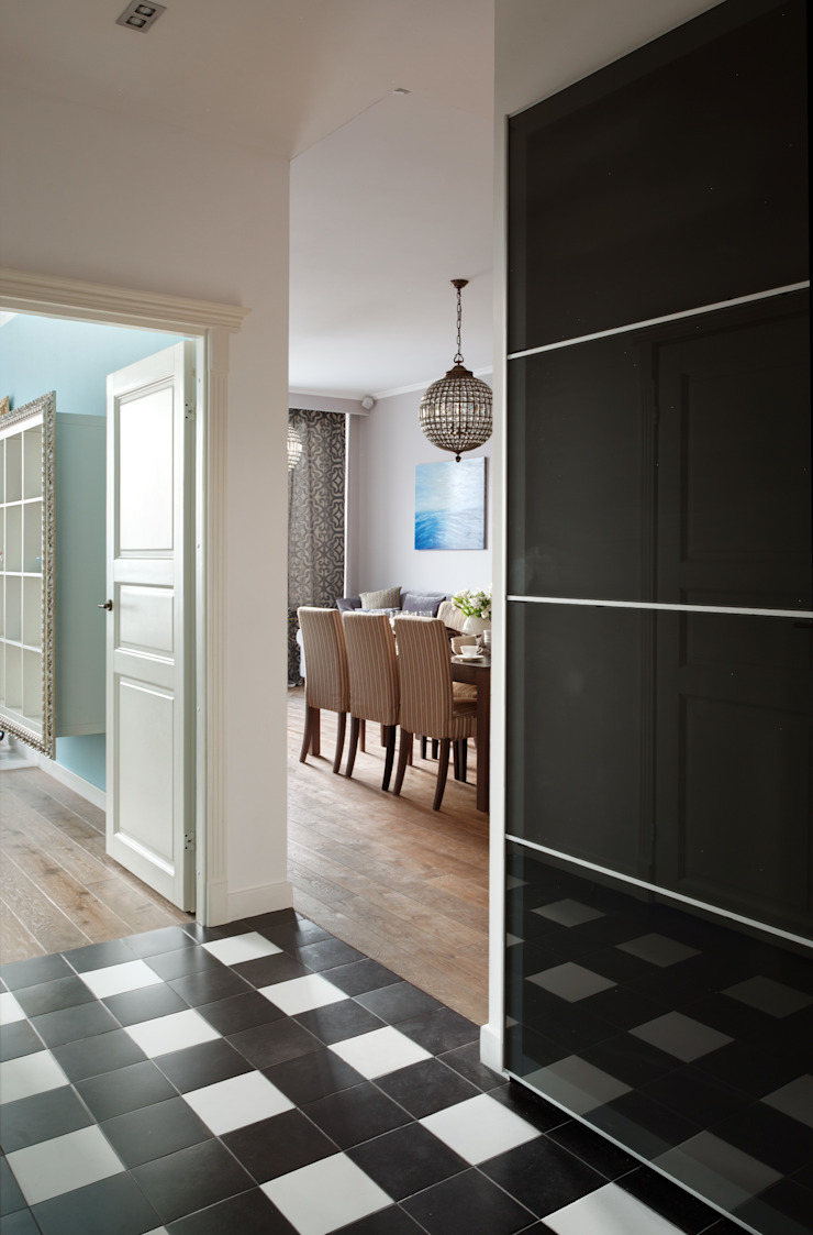 Идеальный фон (ЖК Авеню77) Коридор, прихожая и лестница в модерн стиле от White & Black Design Studio Модерн