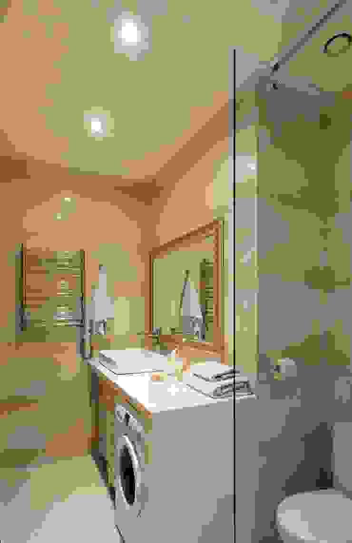 Идеальный фон (ЖК Авеню77) Ванная комната в стиле модерн от White & Black Design Studio Модерн