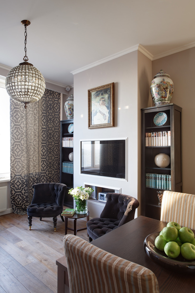Идеальный фон (ЖК Авеню77) Спальня в стиле модерн от White & Black Design Studio Модерн
