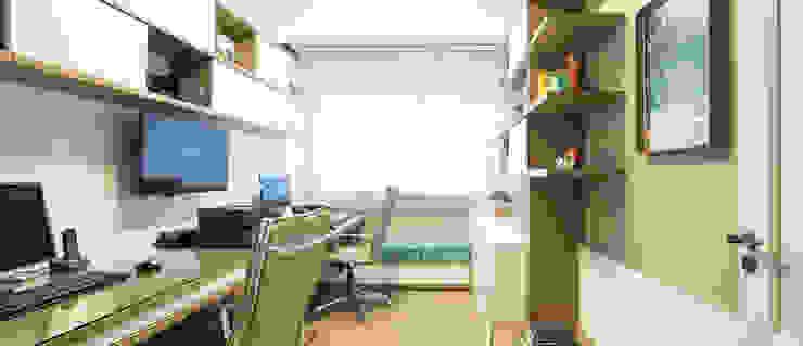 HOME OFFICE 01 Escritórios modernos por Pura!Arquitetura Moderno