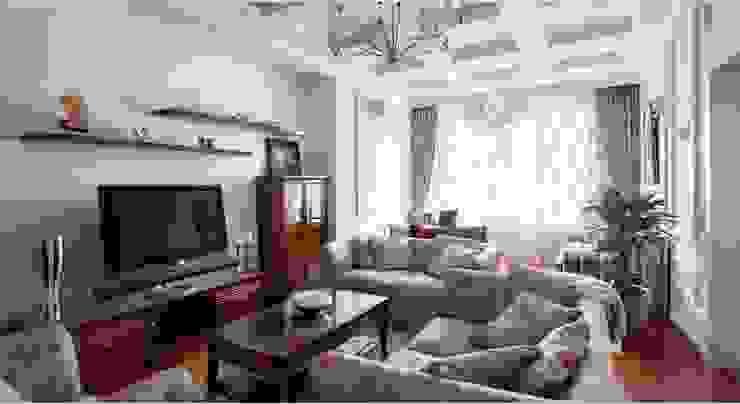 """ЖК """"Белый лебедь"""" Гостиная в классическом стиле от White & Black Design Studio Классический"""