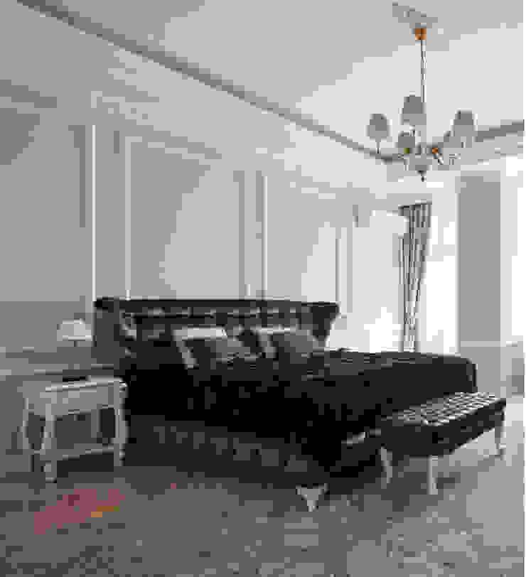 ЖК <q>Белый лебедь</q> Спальня в классическом стиле от White & Black Design Studio Классический